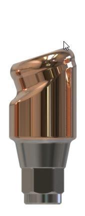 Docklocs® Abutment Set Abwinkelung 18° Variante B Medentis® ICX x GH 3,0 mm