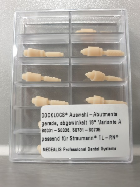 Docklocs® Auswahl-Abutment gerade, 18°-A, 1-tlg., TL RN, GH1-6