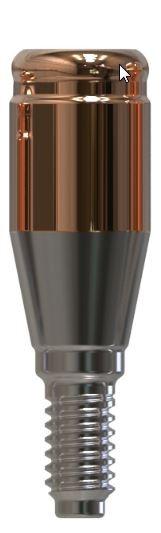 Docklocs® Abutment Set Gerade Dentsply® Astra® OsseoSpeed® TX Lilac 4,5mm/5mm x GH 4,0 mm