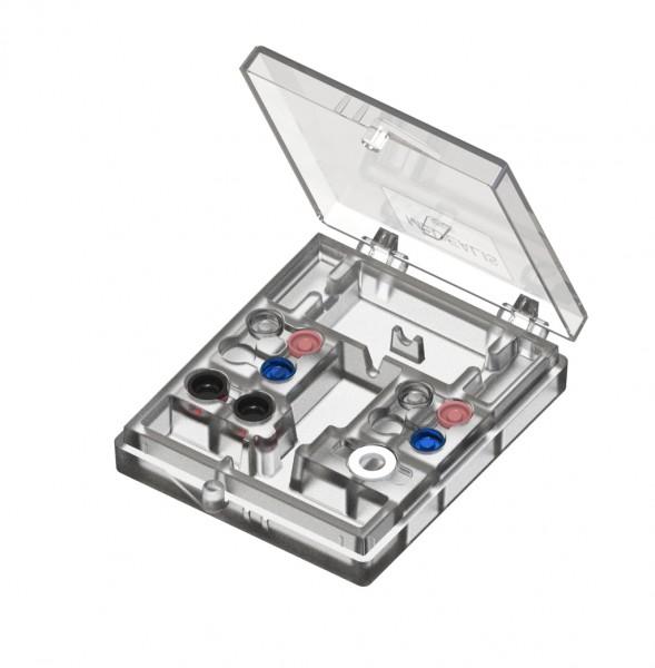 Docklocs® Laborset, bis 20° Divergenzausgleich: 2 Stück Retentionsgehäuse Titan